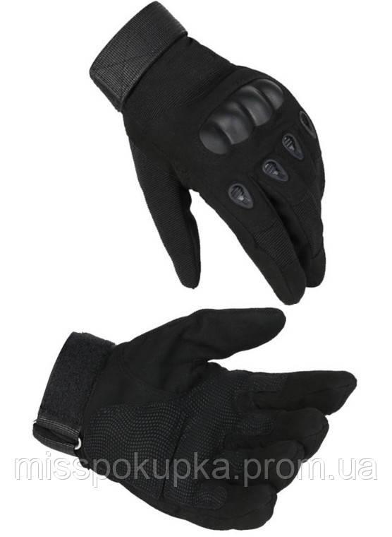 Перчатки тактические с закрытыми пальцами  м, л, хл черные
