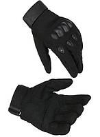 Рукавиці тактичні з закритими пальцями м, л, хл чорні, фото 1