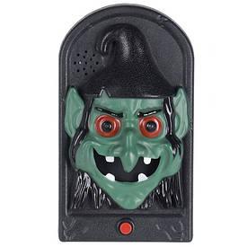 Дверной звонок Ведьма, LED, 3хААА