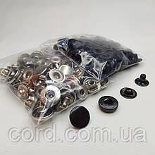 Кнопка 15 мм металлическая (Альфа).Комплект (2 цвета по 25шт.)