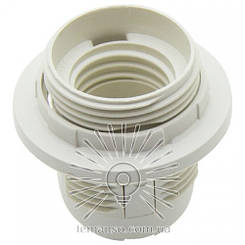 Патрон LEMANSO Е27 пластиковый / резьба+кольцо / белый /