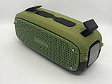 Портативна колонка Hopestar A21, стерео колонка Bluetooth c пило-вологозахистом, бездротова Зелена, фото 6