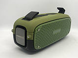 Портативна колонка Hopestar A21, стерео колонка Bluetooth c пило-вологозахистом, бездротова Зелена, фото 3