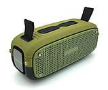 Портативна колонка Hopestar A21, стерео колонка Bluetooth c пило-вологозахистом, бездротова Зелена, фото 5