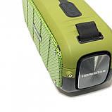 Портативна колонка Hopestar A21, стерео колонка Bluetooth c пило-вологозахистом, бездротова Зелена, фото 7
