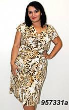 Літнє плаття Леопард 60р.