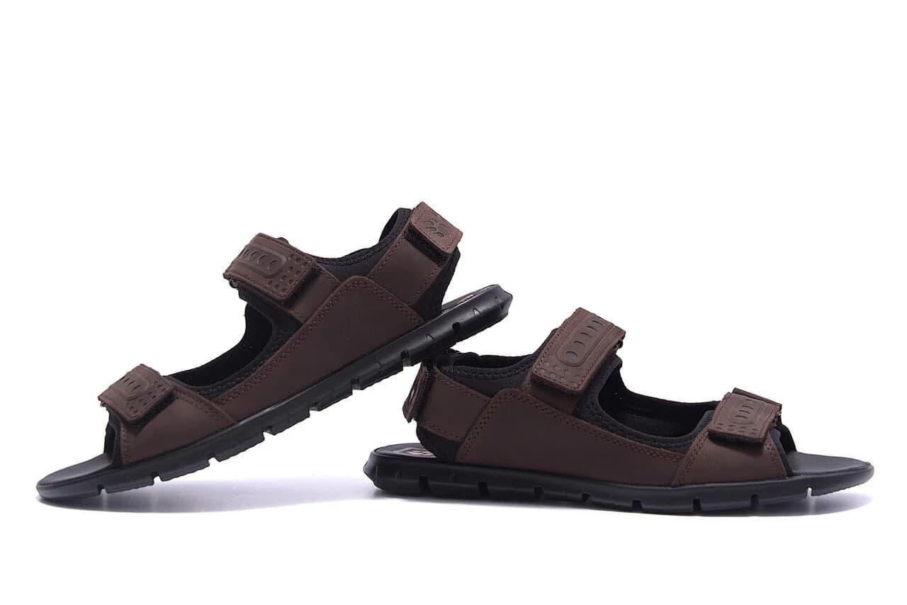 Чоловічі шкіряні сандалі Wofstep коричневого кольору