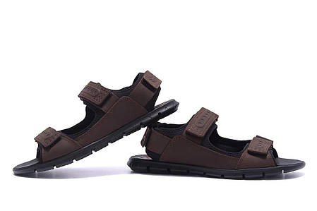 Чоловічі шкіряні сандалі Wofstep коричневого кольору, фото 2