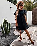 Жіноче плаття, американський льон, р-р 42-44; 46-48 (чорний), фото 2