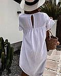 Женское платье, американский лен, р-р 42-44; 46-48 (белый), фото 3