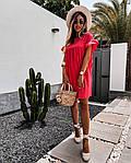 Жіноче плаття, американський льон, р-р 42-44; 46-48 (червоний), фото 3