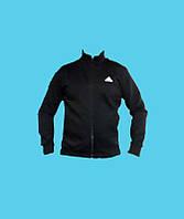 Кофта без капюшона,Adidas трикотажная, зимняя.Чёрная.7086