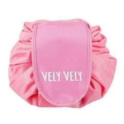 Косметичка-органайзер РОЗОВЫЙ Vely Vely   Органайзер-мешок для косметики