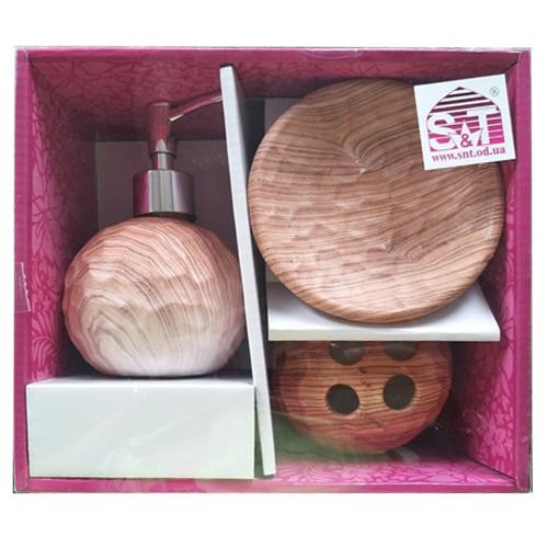 Набор аксессуаров для ванной комнаты 3 пр Бук Snt 889-06-002
