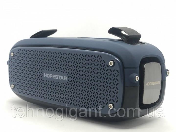 Портативна колонка Hopestar A21, стерео колонка Bluetooth c пило-вологозахистом, бездротова Сіра