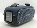Портативна колонка Hopestar A21, стерео колонка Bluetooth c пило-вологозахистом, бездротова Сіра, фото 3