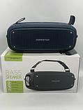 Портативна колонка Hopestar A21, стерео колонка Bluetooth c пило-вологозахистом, бездротова Сіра, фото 5