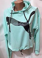 """Світшот-топ жіночий молодіжний з капюшоном розміри M-2XL (8цв) """"WHITE"""" купити недорого від прямого постачальника"""