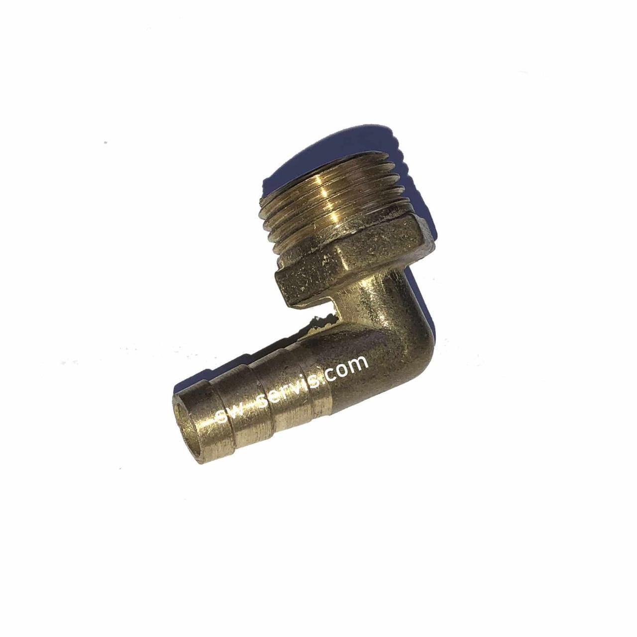 Латунный угловой штуцер 1/2*10 мм резьба наружная