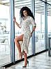 Р. 42-56 Женское летнее платье миди с боковым разрезом и фигурной горловиной норма и батал, фото 2