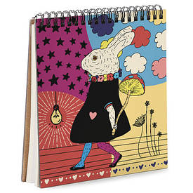 Блокнот Sketchbook (квадрат.) Зайчик с грибочком