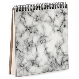 Блокнот Sketchbook (квадрат.) Белый мрамор