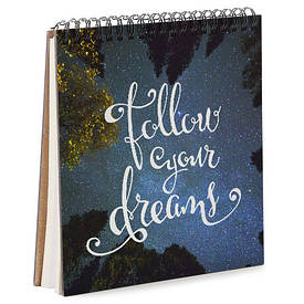 Блокнот Sketchbook (квадрат.) Follow your dreams