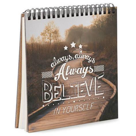 Блокнот Sketchbook (квадрат.) Always believe in yourself, фото 2
