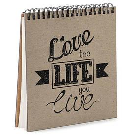 Блокнот Sketchbook (квадрат.) Love the life you live