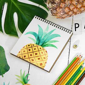 Блокнот Sketchbook (квадрат.) Ананас