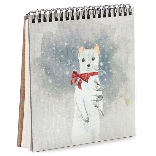 Блокнот Sketchbook (квадрат.) Білий тхір
