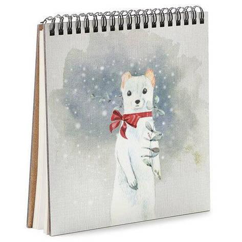 Блокнот Sketchbook (квадрат.) Білий тхір, фото 2