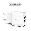 Сетевое зарядное устройство (адаптер) PZOZ 2USB 2,1A White