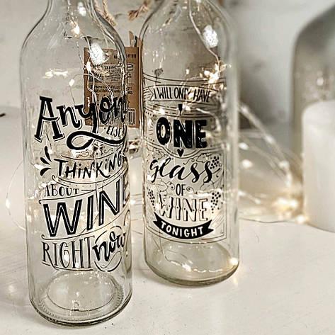 Декоративная бутылка с LED подсветкой (в ассорт.), фото 2