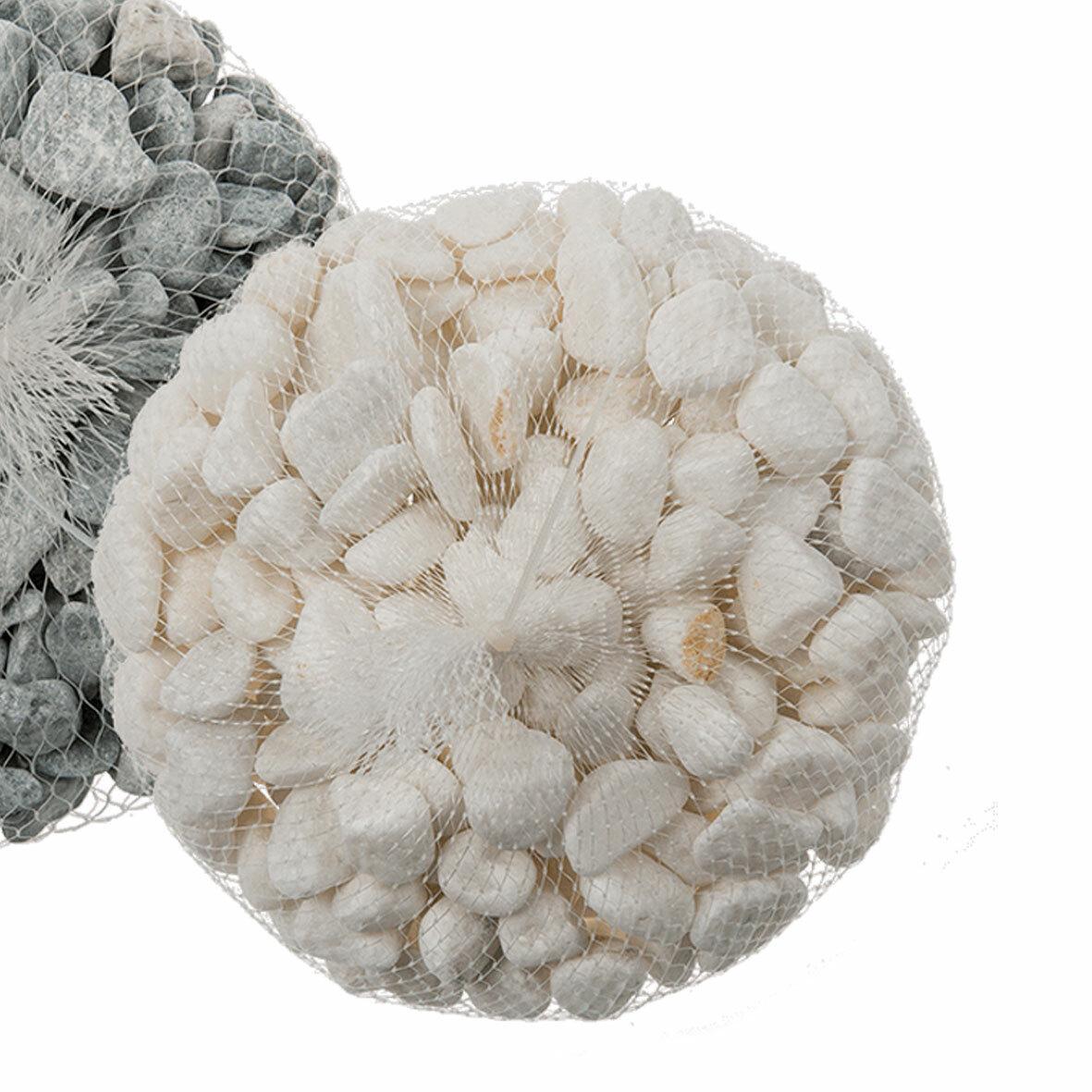 Набор декоративного камня, цвет белый