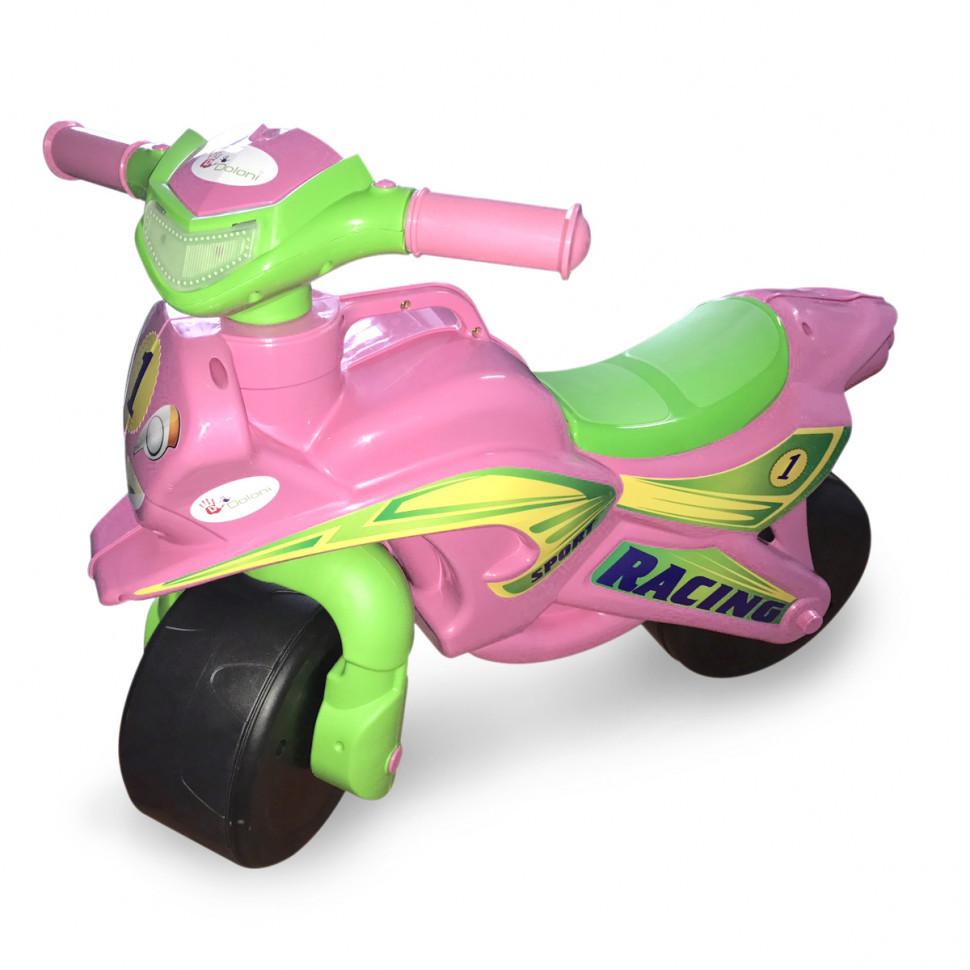 Толокар мотоцикл Doloni 0139/1/6 музыкальный (розовый)