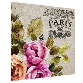 Картина на тканини, 65х65 см Paris