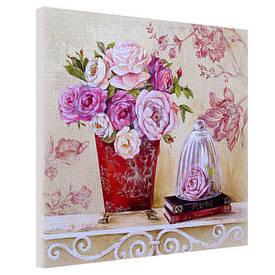 Картина на тканини, 65х65 см Квіти