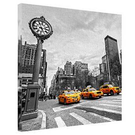 Картина на тканини, 65х65 см Жовте Нью-Йоркське таксі