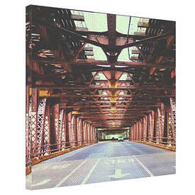 Картина на тканини, 65х65 см Wells Street Bridge, Chicago