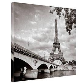 Картина на тканини, 65х65 см Йенський міст і Париж Ейфелева вежа