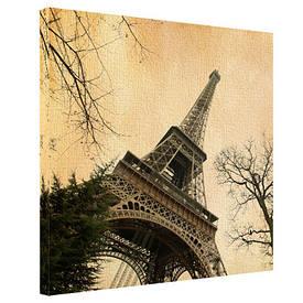 Картина на тканини, 65х65 см Ейфелева вежа