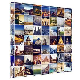 Картина на тканини, 65х65 см Пам'ятки світу