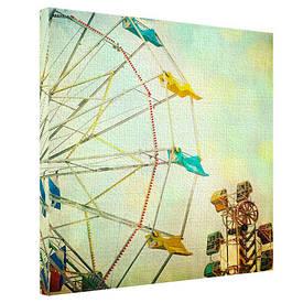 Картина на тканини, 65х65 см Колесо огляду
