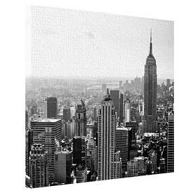 Картина на тканини, 65х65 см Міський пейзаж Нью-Йорка