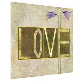 Картина на тканини, 65х65 см Love