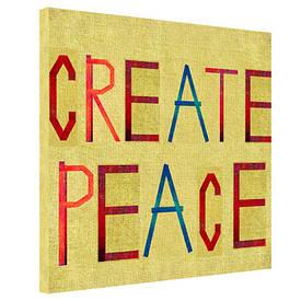 Картина на тканини, 65х65 см Create peace