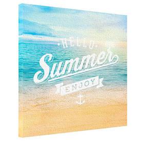Картина на тканини, 65х65 см Hello summer enjoy