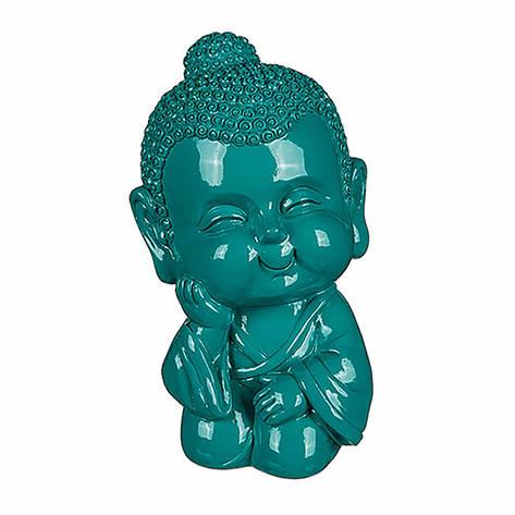 Копилка декоративная Будда, цвет морская волна, фото 2