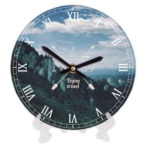 Годинники настінні круглі, 18 см Enjoy travel Гори